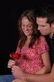 Gelukkig en zwanger paar. Stock Afbeelding
