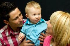 Gelukkig familieportret   Royalty-vrije Stock Fotografie