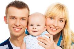 Gelukkig familieportret Stock Afbeelding