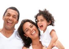 Gelukkig familieportret Stock Foto
