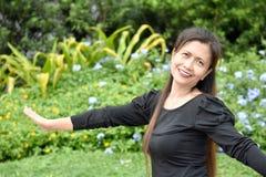 Gelukkig Filipina Person stock foto