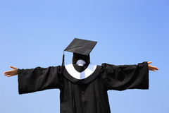Gelukkig gediplomeerd studentenmeisje Stock Afbeeldingen