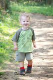 Gelukkig Geschikt Actief Kind in openlucht Royalty-vrije Stock Foto