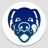 Gelukkig gevoed hondsymbool Stock Foto's