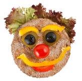 Gelukkig gezicht dat van groenten wordt gemaakt Royalty-vrije Stock Foto