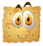 Gelukkig gezicht op koekje Stock Fotografie