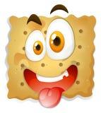 Gelukkig gezicht op koekje Stock Afbeeldingen