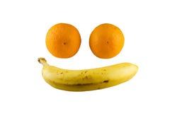 Gelukkig Gezicht van Vruchten Stock Afbeeldingen