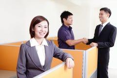 Gelukkig glimlachend commercieel team Royalty-vrije Stock Foto