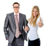 Gelukkig glimlachend commercieel team Stock Afbeelding