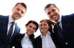 Gelukkig glimlachend commercieel team stock fotografie