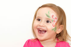 Gelukkig glimlachend meisje stock foto's