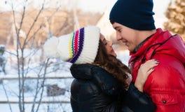 Gelukkig glimlachend paar in liefde Royalty-vrije Stock Fotografie