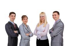 Gelukkig glimlachend succesvol commercieel team Stock Fotografie
