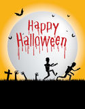 Gelukkig Halloween stock illustratie