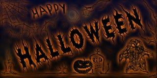 Gelukkig Halloween vector illustratie
