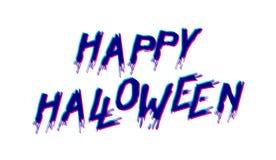 Gelukkig Halloween-embleem royalty-vrije illustratie