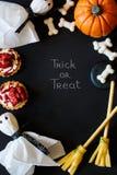 Gelukkig Halloween frame stock afbeeldingen