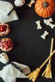 Gelukkig Halloween frame royalty-vrije stock afbeeldingen