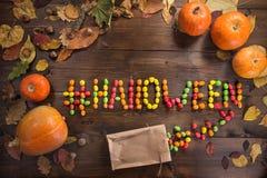 Gelukkig Halloween! Het concept de vakantie stock afbeeldingen