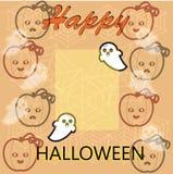 Gelukkig Halloween, kader voor uw tekst Stock Afbeelding