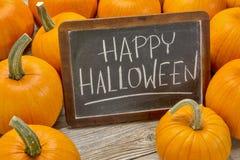 Gelukkig Halloween met pompoen Stock Afbeeldingen
