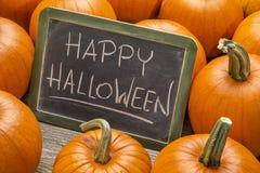 Gelukkig Halloween met pompoen Stock Fotografie