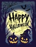 Gelukkig Halloween met symbolen royalty-vrije illustratie