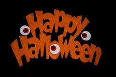 Gelukkig Halloween op zwarte backgound Royalty-vrije Stock Afbeeldingen