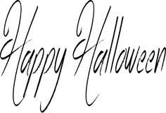 Gelukkig Halloween-tekstteken royalty-vrije stock afbeeldingen