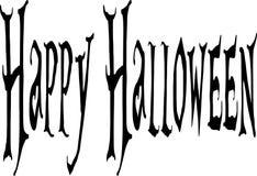 Gelukkig Halloween-tekstteken Stock Foto