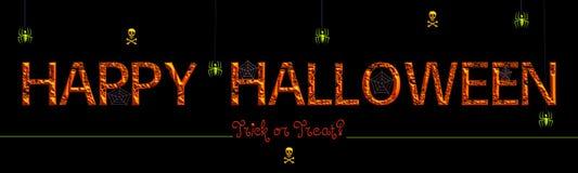 Gelukkig Halloween, Truc of behandelt? stock illustratie