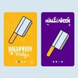 Gelukkig Halloween-uitnodigingsontwerp met messenvector vector illustratie
