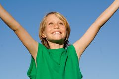 Gelukkig het glimlachen jong geitje Royalty-vrije Stock Foto