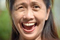 Gelukkig Hoger Filipina Adult Female royalty-vrije stock foto's
