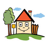 Gelukkig huis Stock Foto