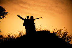 Gelukkig huwelijk Stock Foto's