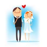 Gelukkig huwelijkssymbool Royalty-vrije Stock Foto