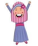 Gelukkig islammeisje Stock Foto