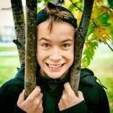 Gelukkig jong geitjeportret Royalty-vrije Stock Foto's