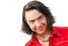 Gelukkig jong kerelportret in studio Royalty-vrije Stock Afbeelding