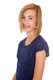 Gelukkig jong meisje die hoofddeksel dragen stock fotografie