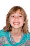 Gelukkig jong meisje met bevederd haar stock afbeeldingen