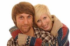 Gelukkig jong paar in liefde Stock Afbeeldingen