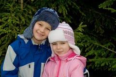Gelukkig Jongen en Meisje! Royalty-vrije Stock Afbeelding