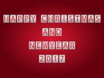 Gelukkig Kerstmis en Nieuwjaar 2017 Royalty-vrije Stock Afbeelding