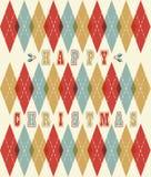 Gelukkig Kerstmis retro geometrisch patroon Royalty-vrije Stock Foto's