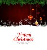 Gelukkig Kerstmisbericht Royalty-vrije Stock Fotografie