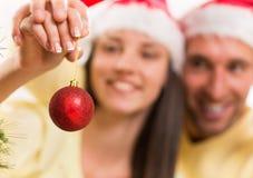 Gelukkig Kerstmispaar Royalty-vrije Stock Foto's
