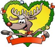 Gelukkig Kerstmisrendier Stock Afbeelding